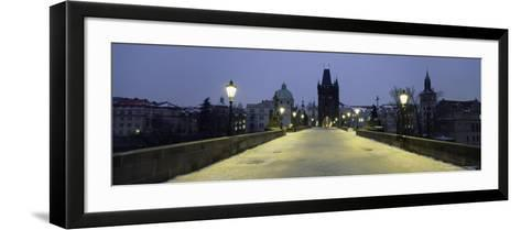 Charles Bridge in Winter Snow, Prague, Unesco World Heritage Site, Czech Republic, Europe-Gavin Hellier-Framed Art Print