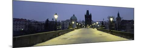 Charles Bridge in Winter Snow, Prague, Unesco World Heritage Site, Czech Republic, Europe-Gavin Hellier-Mounted Photographic Print