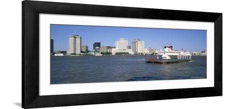 City Skyline and the Mississippi River, New Orleans, Louisiana, United States of America-Gavin Hellier-Framed Art Print