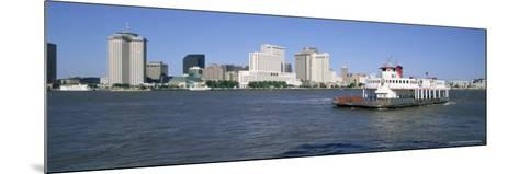 City Skyline and the Mississippi River, New Orleans, Louisiana, United States of America-Gavin Hellier-Mounted Photographic Print