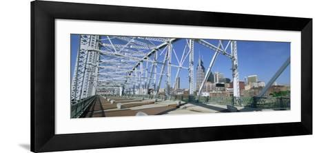 City Skyline and New Pedestrian Bridge, Nashville, Tennessee, United States of America-Gavin Hellier-Framed Art Print