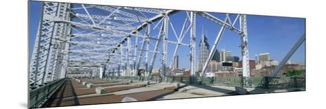 City Skyline and New Pedestrian Bridge, Nashville, Tennessee, United States of America-Gavin Hellier-Mounted Photographic Print