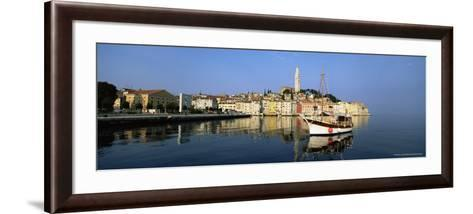 Old Town Houses and Cathedral of St. Euphemia, Rovinj, Istria, Croatia, Europe-Gavin Hellier-Framed Art Print