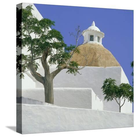 Church of Our Lady of Jesus, Santa Eulalia, Balearic Islands, Spain, Europe-G Richardson-Stretched Canvas Print