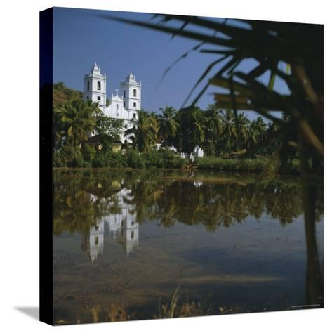 Country Church, Goa, India, Asia-G Richardson-Stretched Canvas Print
