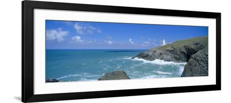 Trevose Lighthouse and Trevose Head, North Cornwall, England, UK-Lee Frost-Framed Art Print
