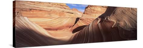 Sandstone Wave, Paria Canyon, Vermillion Cliffs Wilderness, Arizona, USA-Lee Frost-Stretched Canvas Print