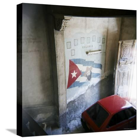 Mural of Camilo Cienfuegos on the Wall of an Apartment Building, Havana, Cuba-Lee Frost-Stretched Canvas Print