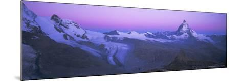 Pink Sky Before Sunrise Over the Lower Theodul Glacier and the Matterhorn Mountain, Swiss Alps-Ruth Tomlinson-Mounted Photographic Print