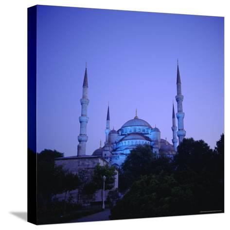 Sultan Ahmet Mosque (Blue Mosque) 1609-1616, Istanbul Turkey, Eurasia-Christopher Rennie-Stretched Canvas Print