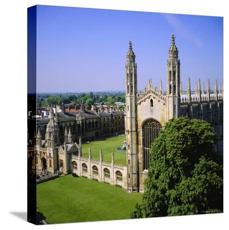 King's College Chapel, Cambridge, Cambridgeshire, England, UK-Roy Rainford-Stretched Canvas Print