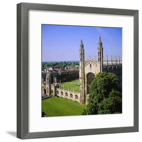 King's College Chapel, Cambridge, Cambridgeshire, England, UK-Roy Rainford-Framed Art Print