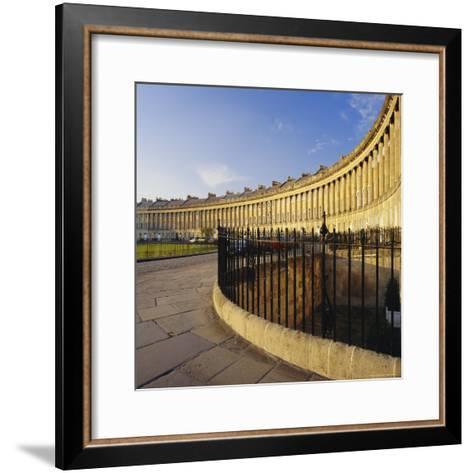 The Royal Crescent, Bath, Avon & Somerset, England-Roy Rainford-Framed Art Print