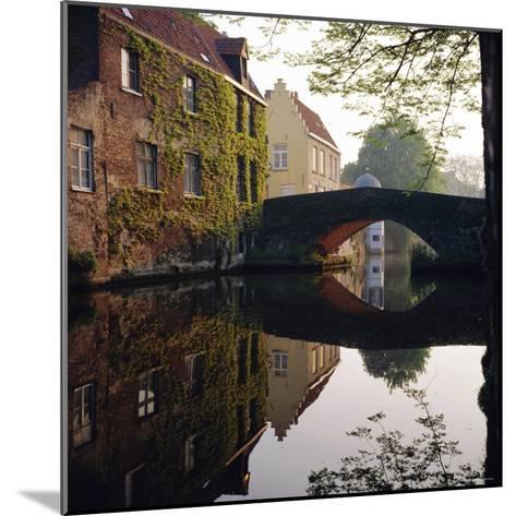 Canal Reflections, Bruges, Belgium-Roy Rainford-Mounted Photographic Print
