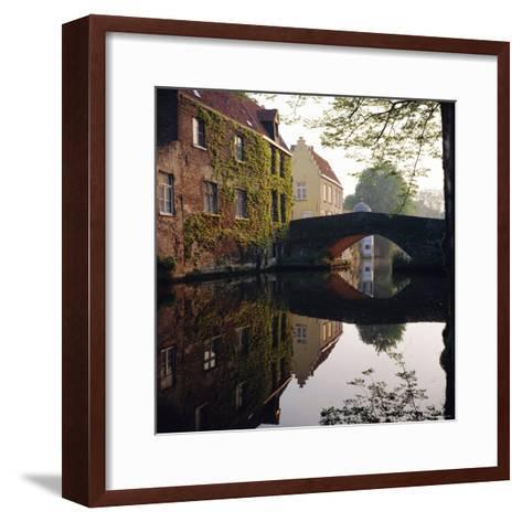 Canal Reflections, Bruges, Belgium-Roy Rainford-Framed Art Print