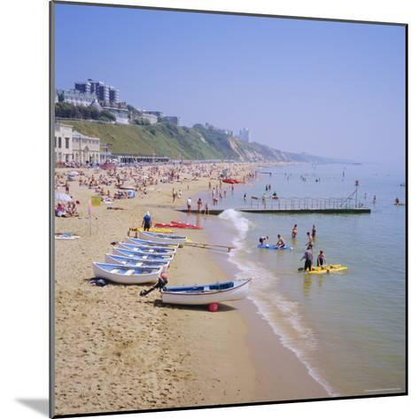 Beach and Boats, Bournemouth, Dorset, England-Roy Rainford-Mounted Photographic Print