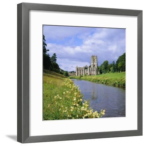 Fountains Abbey, North Yorkshire, England, UK, Europe-Roy Rainford-Framed Art Print