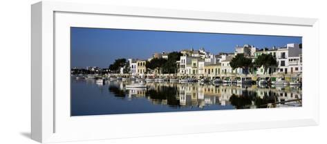 Porto Colom Harbour, Majorca, Spain-John Miller-Framed Art Print