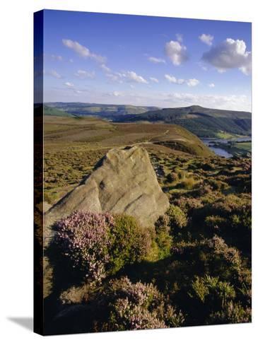 Whinstone Lee Tor and Derwent Moors, Derwent Edge, Peak District National Park, Derbyshire, England-Neale Clarke-Stretched Canvas Print