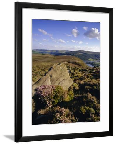 Whinstone Lee Tor and Derwent Moors, Derwent Edge, Peak District National Park, Derbyshire, England-Neale Clarke-Framed Art Print
