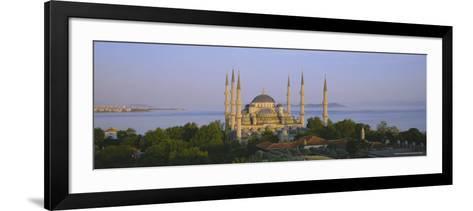 The Blue Mosque (Sultan Ahmet Mosque), Istanbul, Turkey, Europe-Simon Harris-Framed Art Print