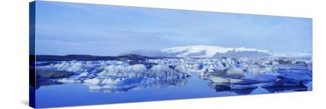 Jokulsarlon Glacial Lagoon, Vatnajokull Ice Cap, South Iceland, Iceland, Polar Regions-Simon Harris-Stretched Canvas Print