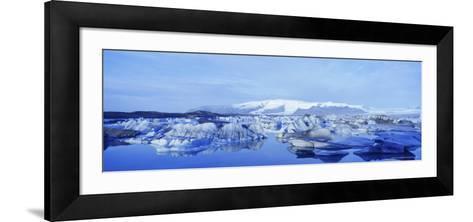 Jokulsarlon Glacial Lagoon, Vatnajokull Ice Cap, South Iceland, Iceland, Polar Regions-Simon Harris-Framed Art Print
