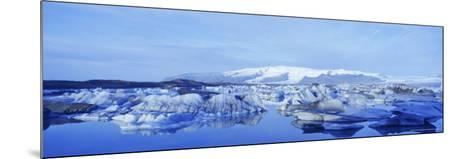 Jokulsarlon Glacial Lagoon, Vatnajokull Ice Cap, South Iceland, Iceland, Polar Regions-Simon Harris-Mounted Photographic Print