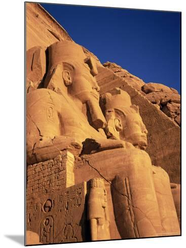 Large Carved Seated Statues of the Pharaoh, Temple of Rameses II, Nubia, Egypt-Sylvain Grandadam-Mounted Photographic Print