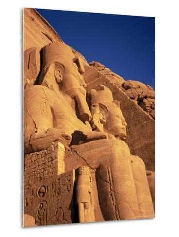 Large Carved Seated Statues of the Pharaoh, Temple of Rameses II, Nubia, Egypt-Sylvain Grandadam-Metal Print