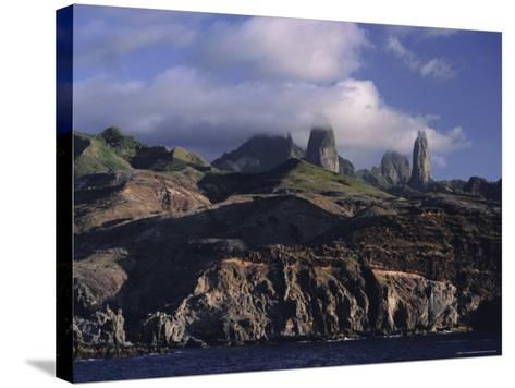 Rocks, Puamau Bay, Ua Pou Island, Marquesas Islands Archipelago, French Polynesia-J P De Manne-Stretched Canvas Print
