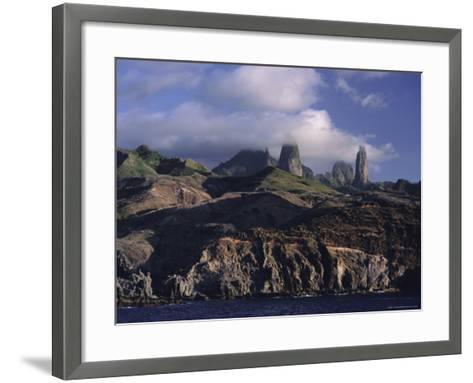 Rocks, Puamau Bay, Ua Pou Island, Marquesas Islands Archipelago, French Polynesia-J P De Manne-Framed Art Print