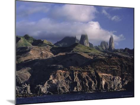 Rocks, Puamau Bay, Ua Pou Island, Marquesas Islands Archipelago, French Polynesia-J P De Manne-Mounted Photographic Print