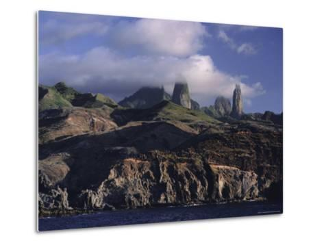 Rocks, Puamau Bay, Ua Pou Island, Marquesas Islands Archipelago, French Polynesia-J P De Manne-Metal Print