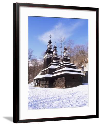 Christian Orthodox Wooden Church of St. Michael from the 18th Century, Prague, Czech Republic-Richard Nebesky-Framed Art Print