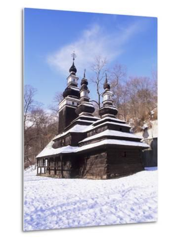 Christian Orthodox Wooden Church of St. Michael from the 18th Century, Prague, Czech Republic-Richard Nebesky-Metal Print
