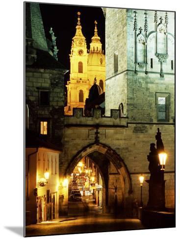 Romanesque and Gothic Malostranske Bridge Towers, Prague, Czech Republic-Richard Nebesky-Mounted Photographic Print