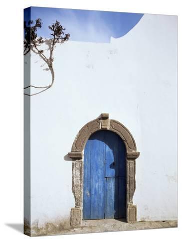 Blue Door, Filicudi, Aeolian Islands, Unesco World Heritage Site, Italy-Oliviero Olivieri-Stretched Canvas Print