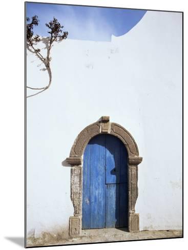 Blue Door, Filicudi, Aeolian Islands, Unesco World Heritage Site, Italy-Oliviero Olivieri-Mounted Photographic Print