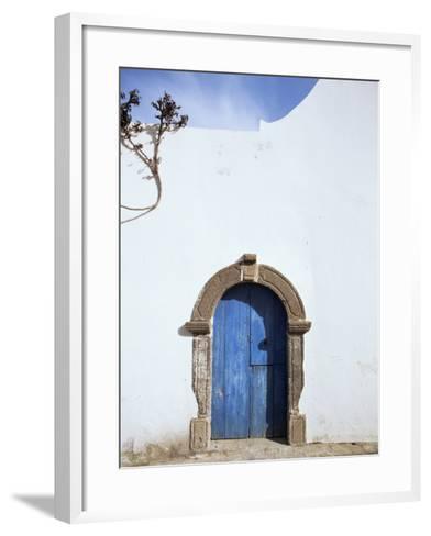 Blue Door, Filicudi, Aeolian Islands, Unesco World Heritage Site, Italy-Oliviero Olivieri-Framed Art Print