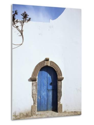 Blue Door, Filicudi, Aeolian Islands, Unesco World Heritage Site, Italy-Oliviero Olivieri-Metal Print