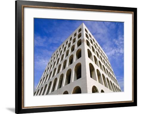 Palazzo Della Civilta Di Lavoro, Eur, Lazio, Italy-Oliviero Olivieri-Framed Art Print
