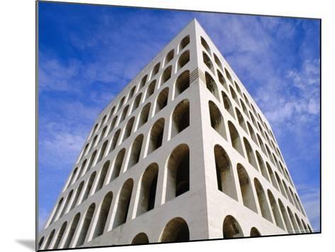 Palazzo Della Civilta Di Lavoro, Eur, Lazio, Italy-Oliviero Olivieri-Mounted Photographic Print