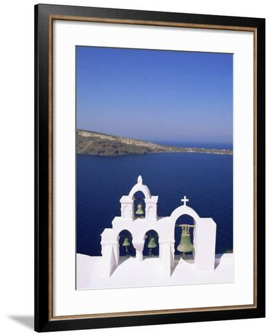 Bell Tower on Christian Church, Oia (Ia), Santorini (Thira), Aegean Sea, Greece-Sergio Pitamitz-Framed Art Print