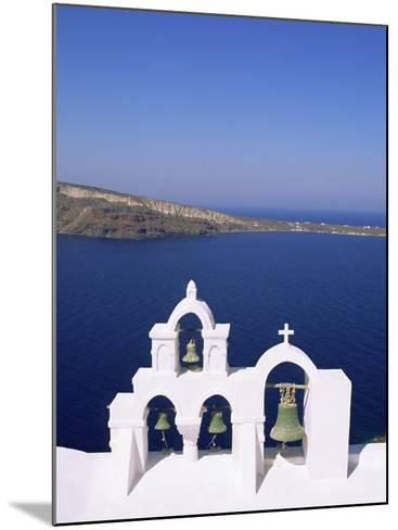 Bell Tower on Christian Church, Oia (Ia), Santorini (Thira), Aegean Sea, Greece-Sergio Pitamitz-Mounted Photographic Print