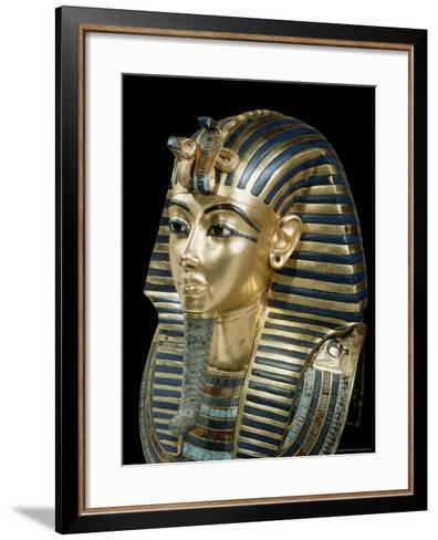 Tutankhamun's Funeral Mask in Solid Gold Inlaid with Semi-Precious Stones, Thebes, Egypt-Robert Harding-Framed Art Print