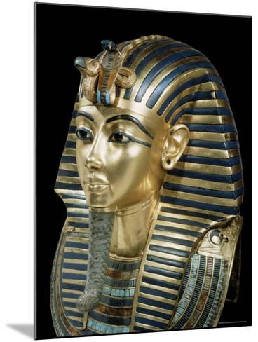 Tutankhamun's Funeral Mask in Solid Gold Inlaid with Semi-Precious Stones, Thebes, Egypt-Robert Harding-Mounted Photographic Print