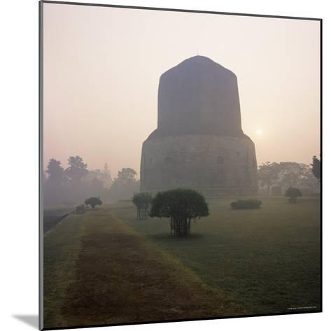 Dhamekh Stupa, Buddhist Pilgrimage Site, Sarnath, Near Varanasi, Uttar Pradesh State, India, Asia-James Gritz-Mounted Photographic Print