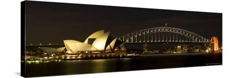 Harbour Sydney, Opera and Harbour Bridge in Sydney, New South Wales, Sydney, Australia-Thorsten Milse-Stretched Canvas Print