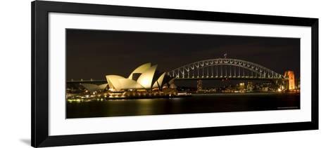 Harbour Sydney, Opera and Harbour Bridge in Sydney, New South Wales, Sydney, Australia-Thorsten Milse-Framed Art Print